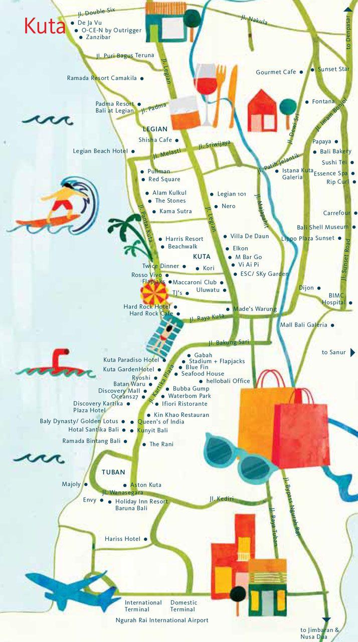 Astrid Prasetianti Map Of Kuta Bali For Hellobali