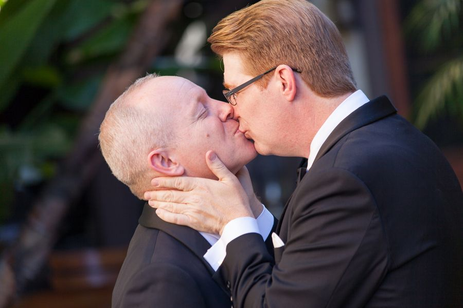 Gay old kiss