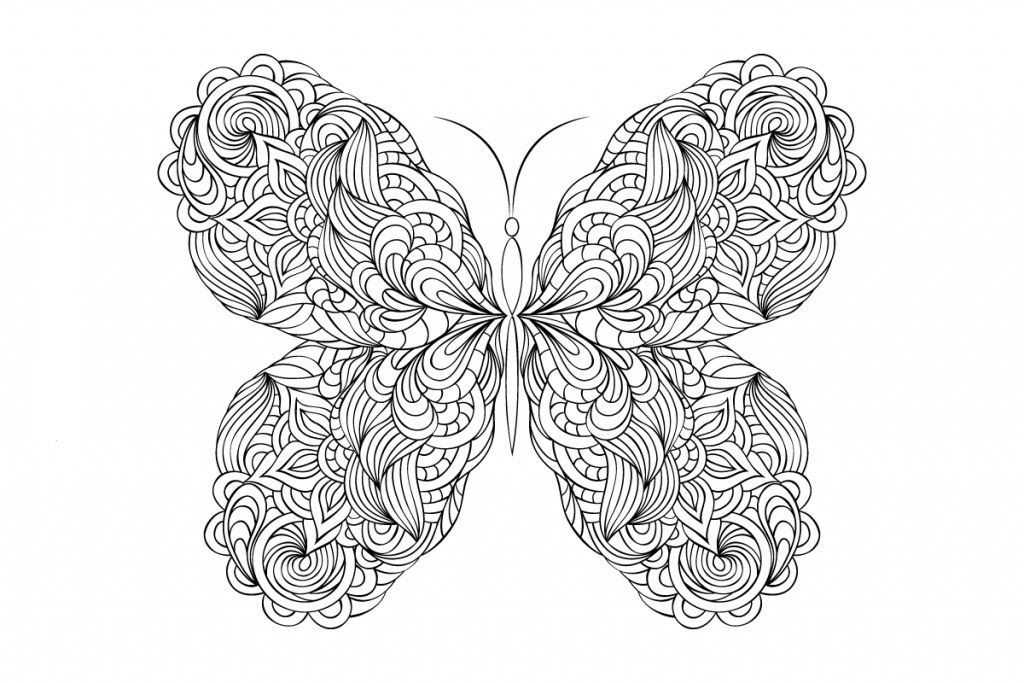 23+ Detailed butterfly coloring pages for adults info