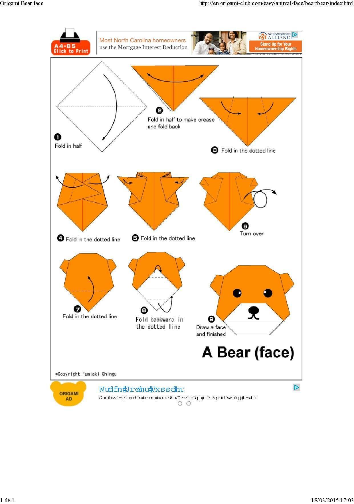 Iniciacion Al Origami O Papiroflexia Para Nin S Caras De