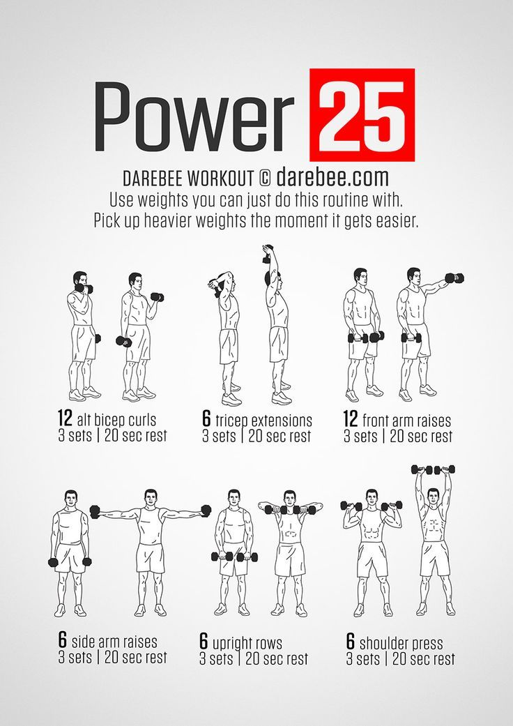 Power 25 Workout | GYM HABITS! | Fitness, Workout, Dumbbell workout