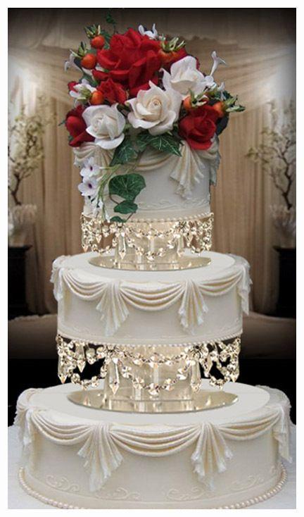 Crystal Chandelier Wedding Cake Tier Separators 8 10 With Swarovski Crystals