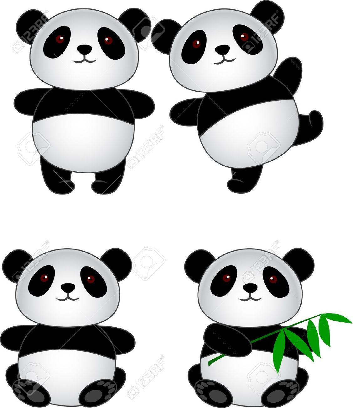 R sultat de recherche d 39 images pour panda dessin noir et - Dessins de panda ...