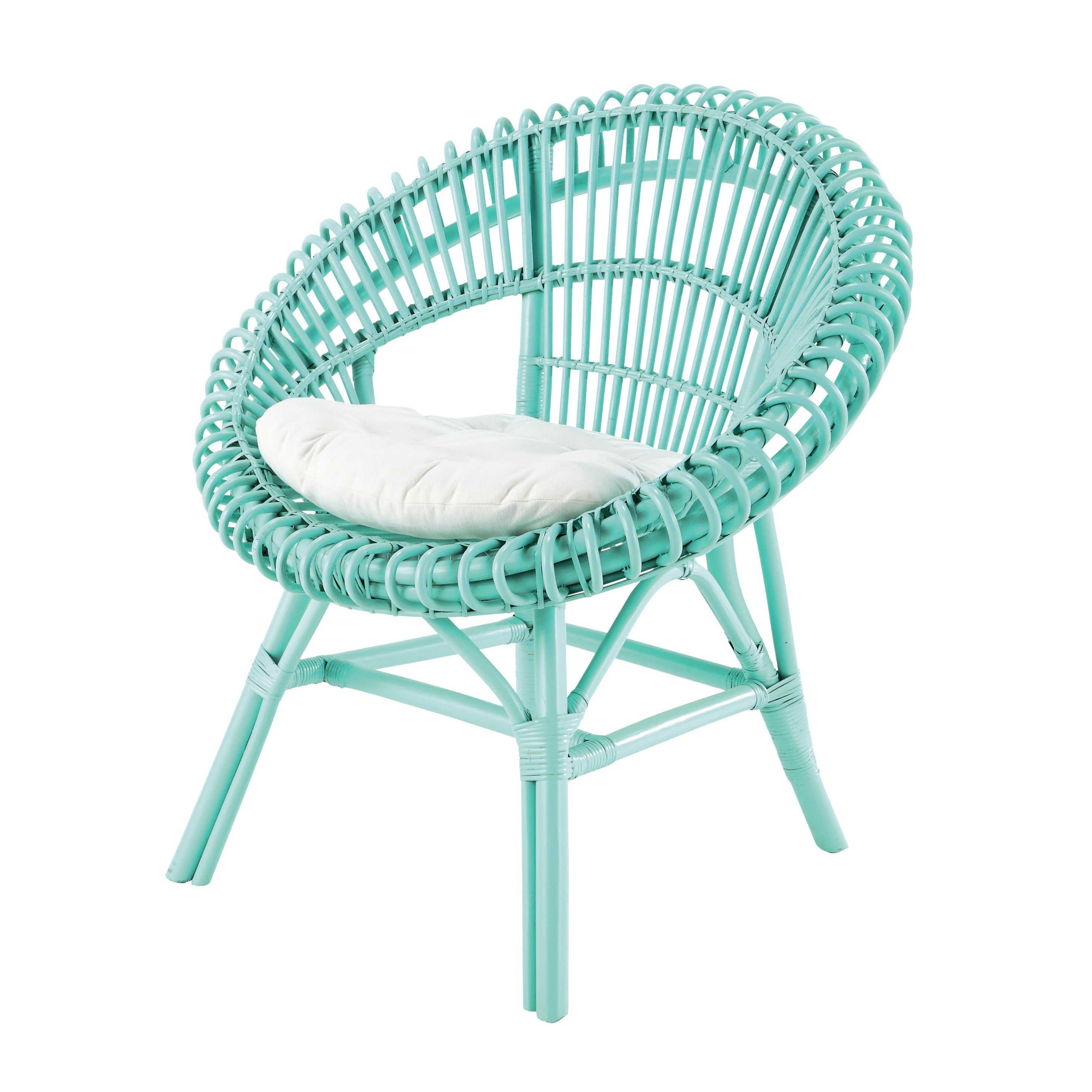 fauteuil en rotin vert d 39 eau smoothie maisons du monde. Black Bedroom Furniture Sets. Home Design Ideas