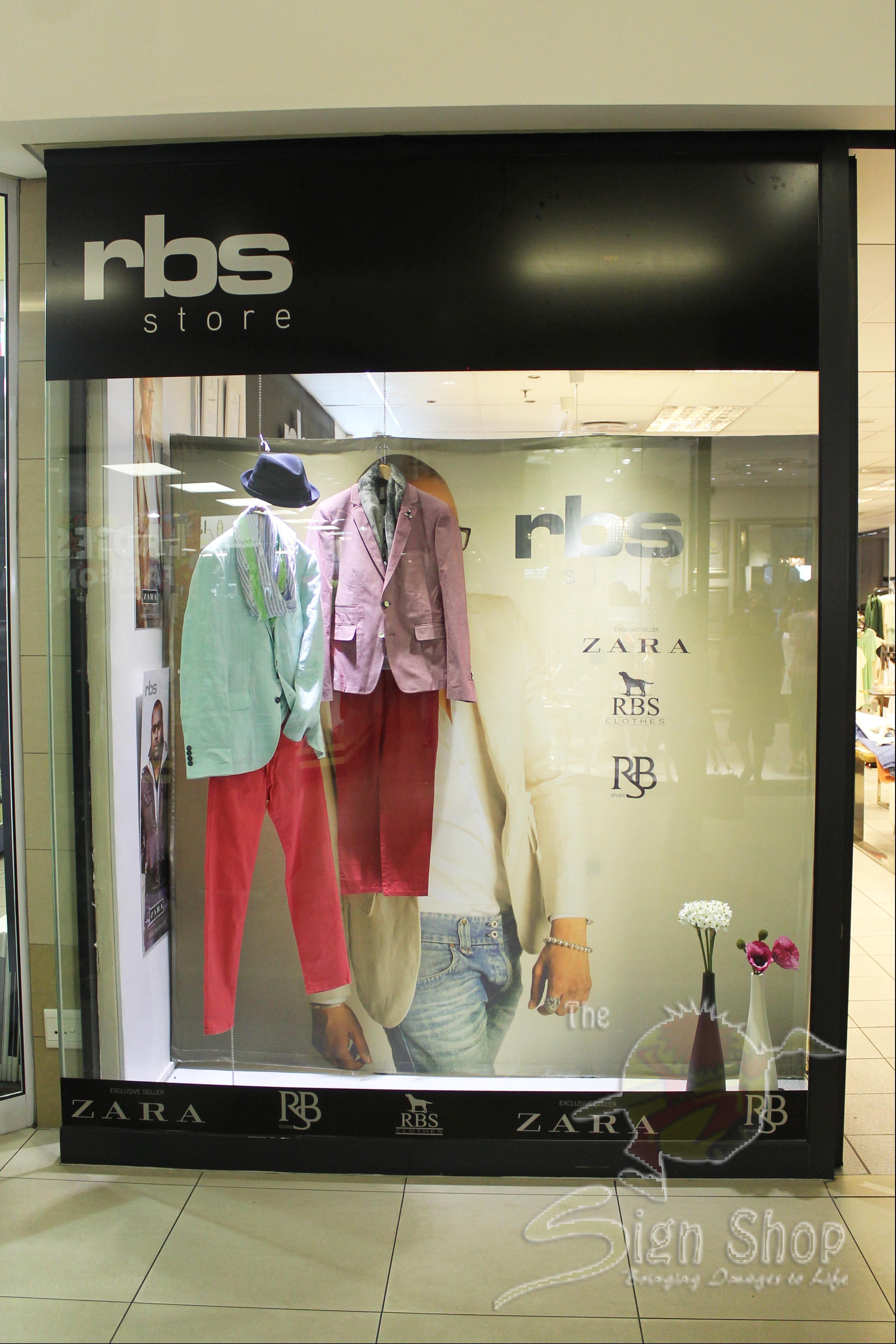 RBS Clothing Store Branding