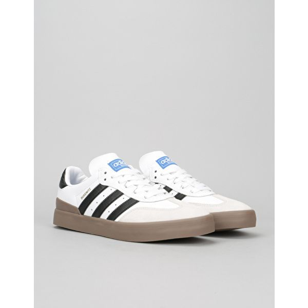 reputable site 7165d 6d3a2 Adidas Busenitz Vulc Samba Skate Shoes - White Core Black Bluebird