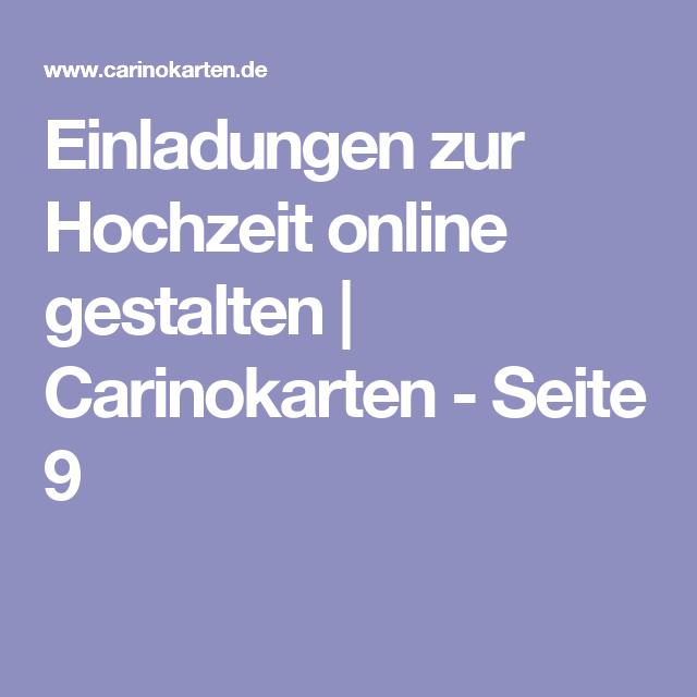 Einladungen Zur Hochzeit Online Gestalten | Carinokarten   Seite 9
