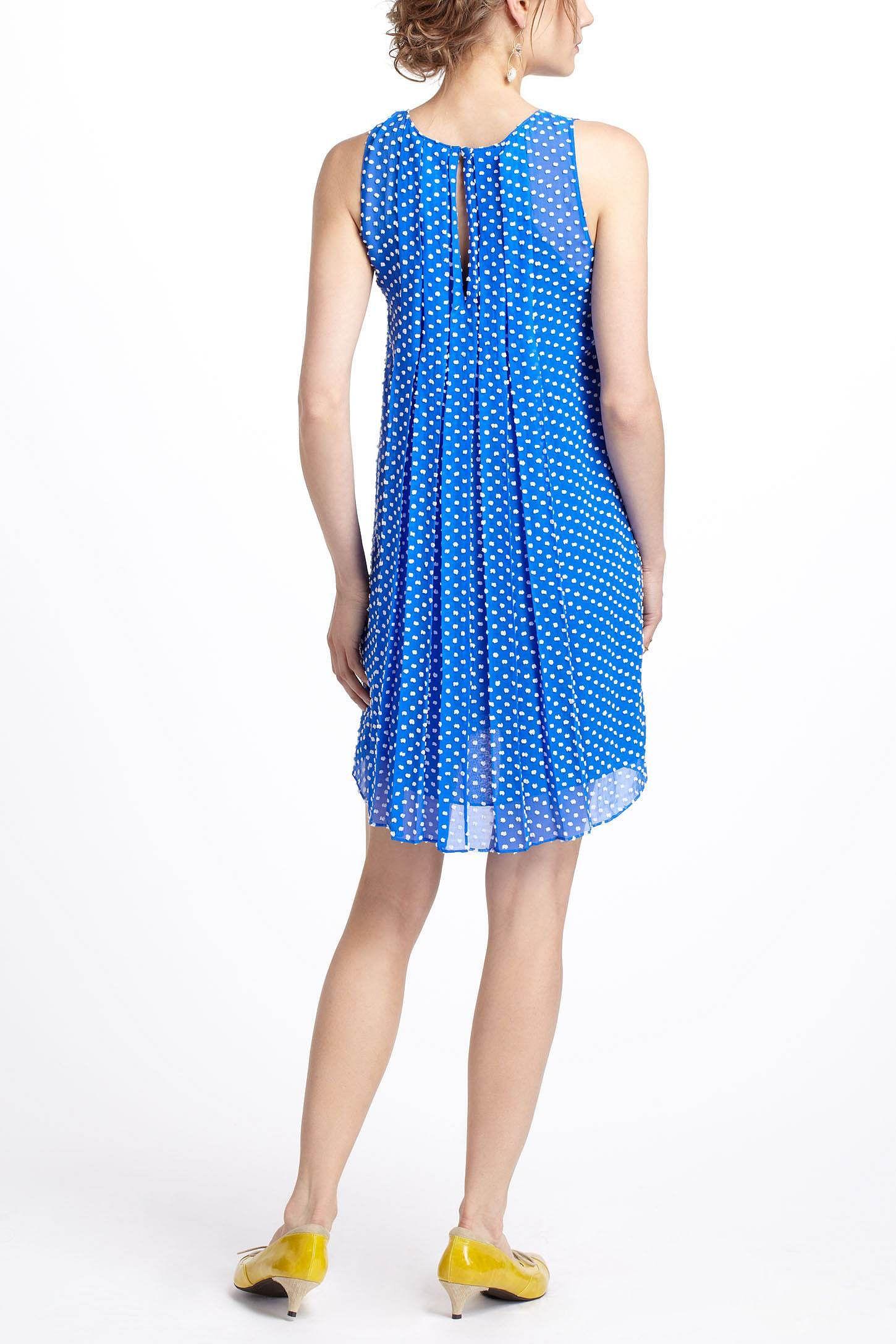 Flocked Speckle Dress #cobaltdress