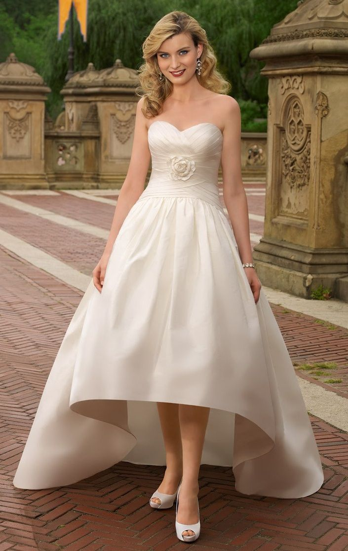 wedding gown for petite bride Neckline Wedding Dresses for
