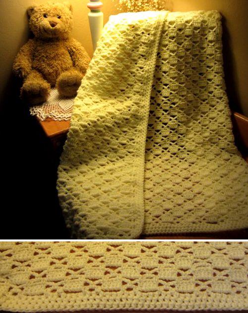 Lacy Chessboard Baby Blanket - Free Pattern | Crochet blanket ...