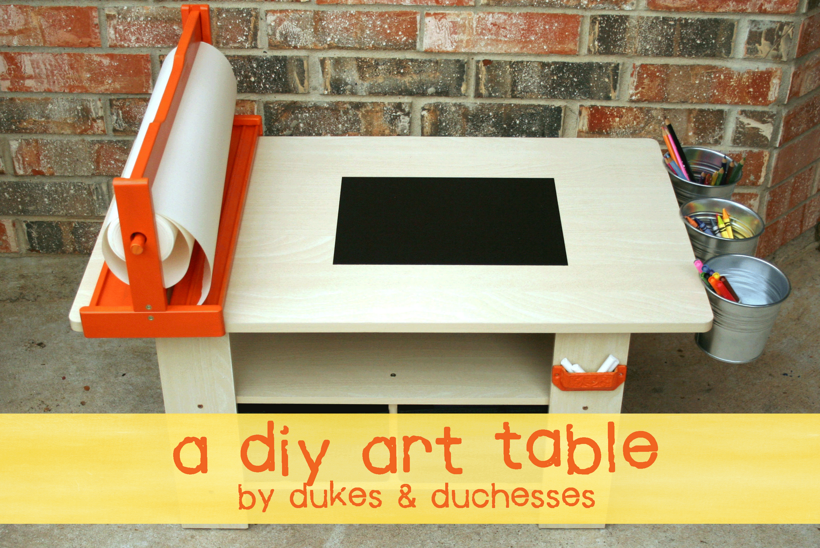 A Coffee Table Turned Into A Diy Art Table From Dukesandduchesses Com Art Table Diy Kids Art Kids Art Table