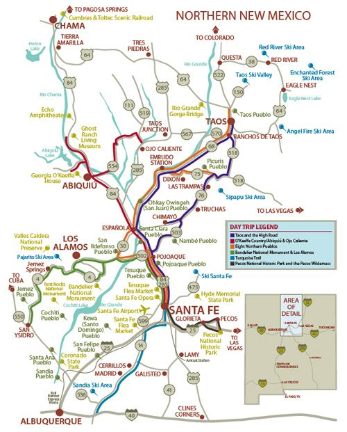 MAP OF NORTHERN NM | northern new mexico | Maps | New Mexico