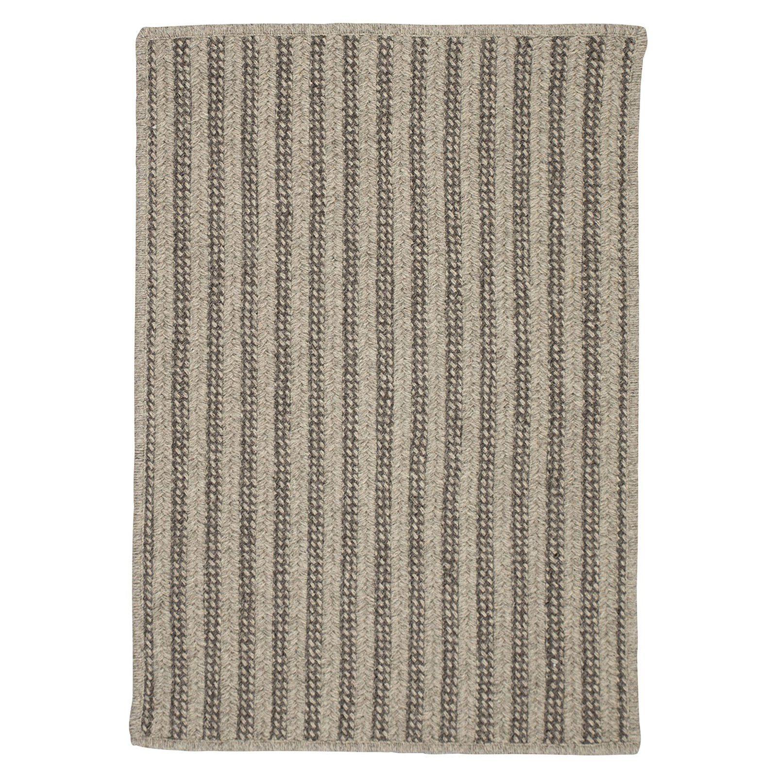 Colonial Mills Woodland Vertical Stripe Indoor Area Rug Dark Gray Braided Area Rugs Area Rugs Wool Area Rugs