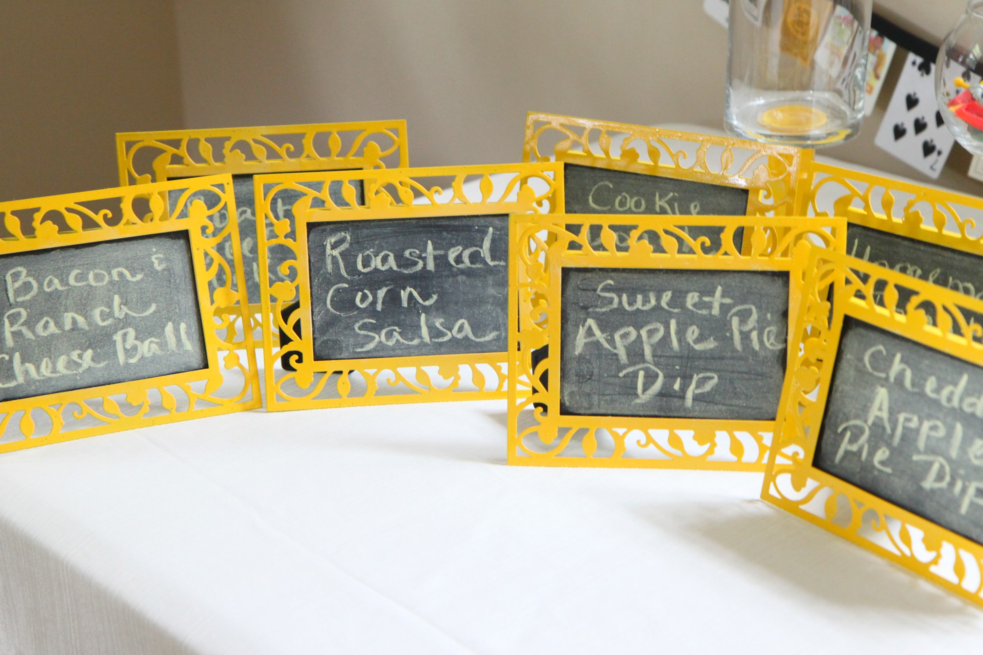 Dollar Store Craft: DIY Chalkboard Food Label Frames | Diy ...