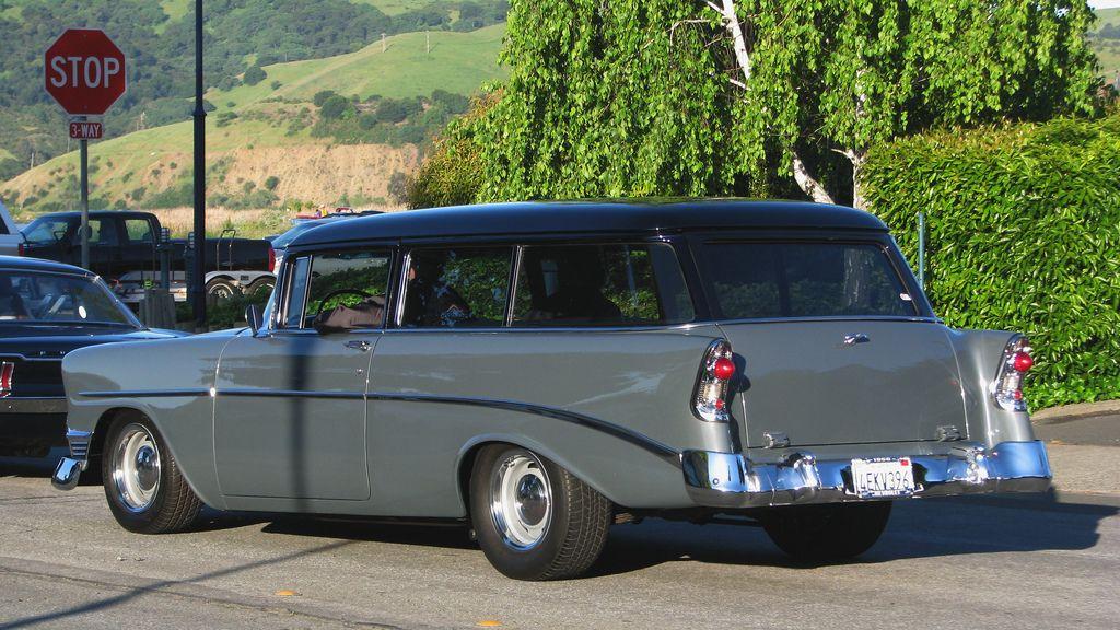 1956 Chevrolet 210 Wagon Custom 4ekv396 3 Hoeden