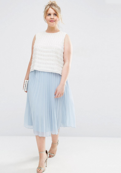 A pale-blue midi skirt that's perfectly pleated. | 34 Awesome Things To Buy On Asos This Month