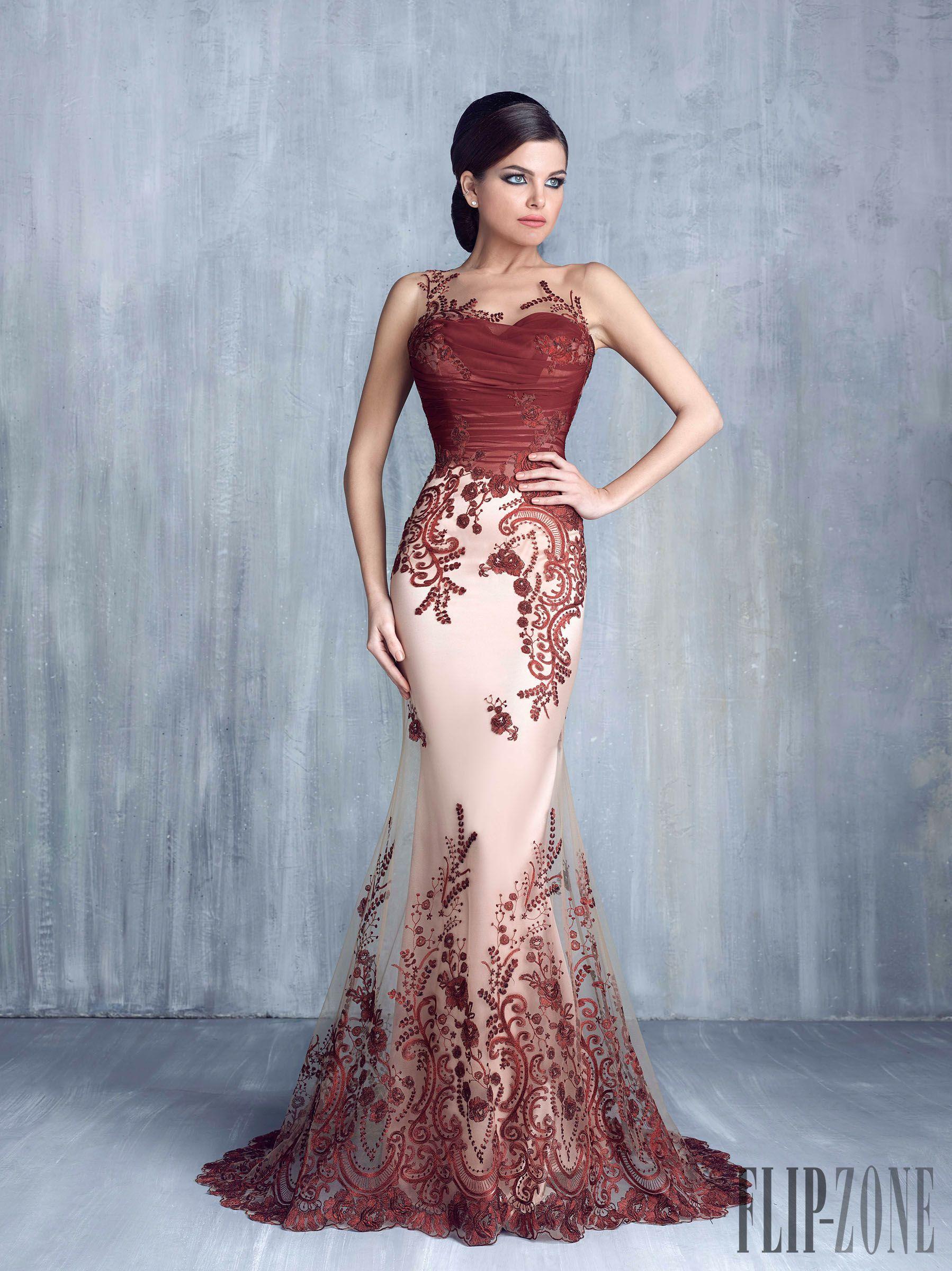 Blood Red Evening Dress
