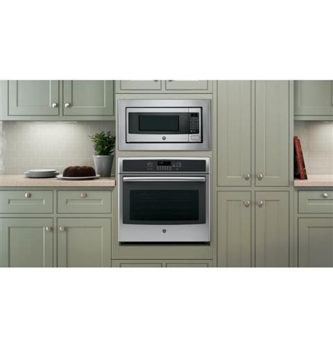 Ge Profile Series 1 1 Cu Ft Countertop Microwave Oven B I W