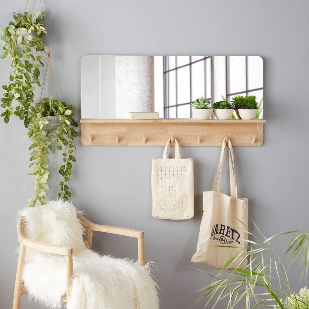 Bestinterior Design Ideas: Miroir En Ch Ne Avec Tablette Et 7 Pat Res 100x50