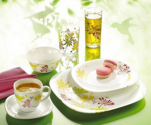 Las vajillas Luminarc destacan por ser muy resistentes y por su diseño moderno y original. Son platos, vasos, tazas, ensaladeras y cuencos de vidrio templado.