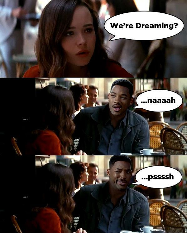 If Will Smith was in Inception.. Hahaha