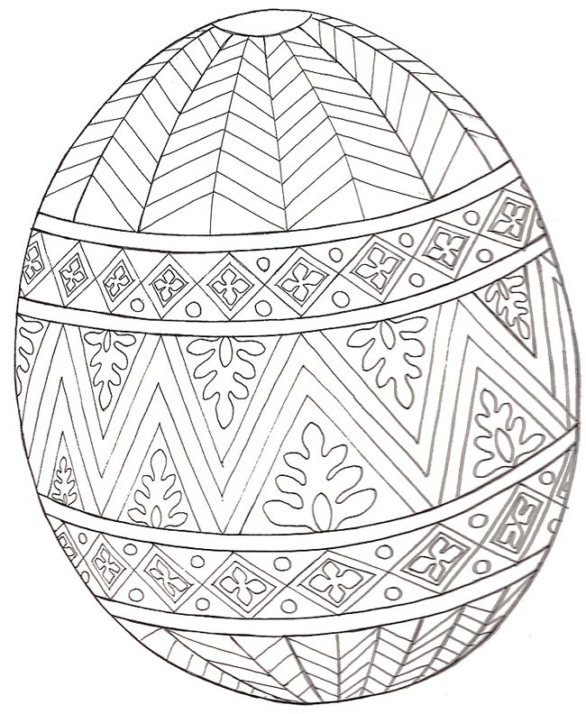 Easter Egg Colouring In Printable Trend