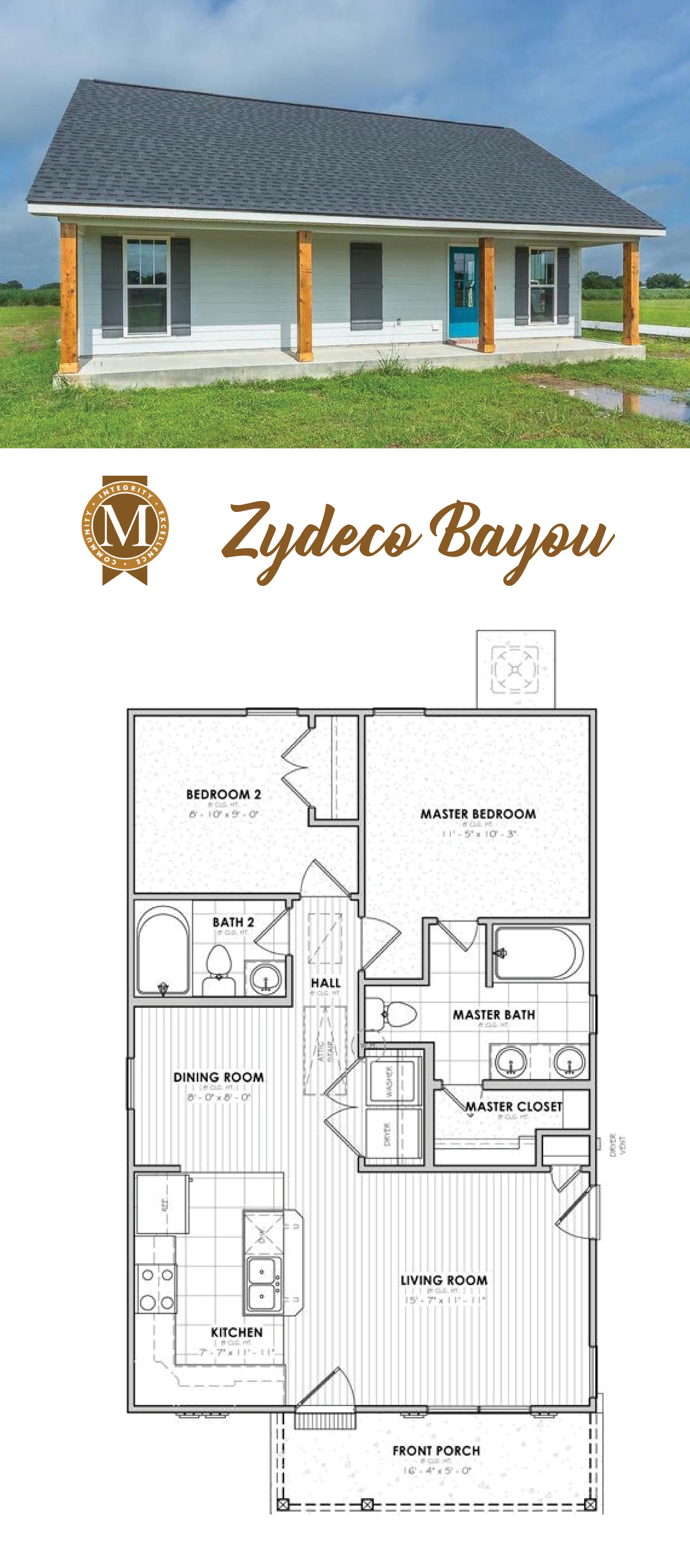 Living Sq Ft 864 Bedrooms 2 Baths 2 Baton Rouge Lake Charles Lafayette Louisiana House Plans House Layouts Tiny House Plans