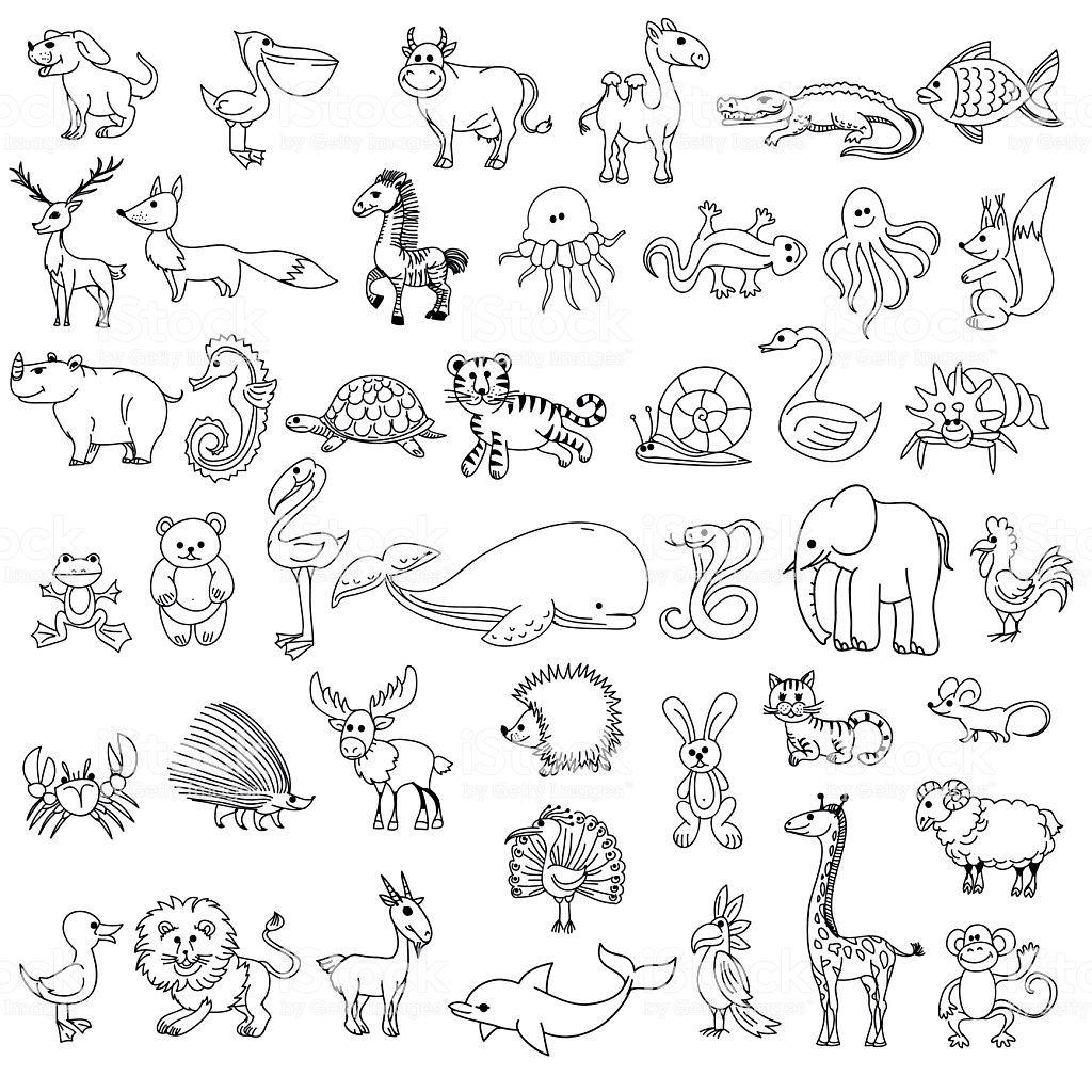 Ilustraci 243 N De Animales Para Ni 241 Os De Dibujo Garabato Y
