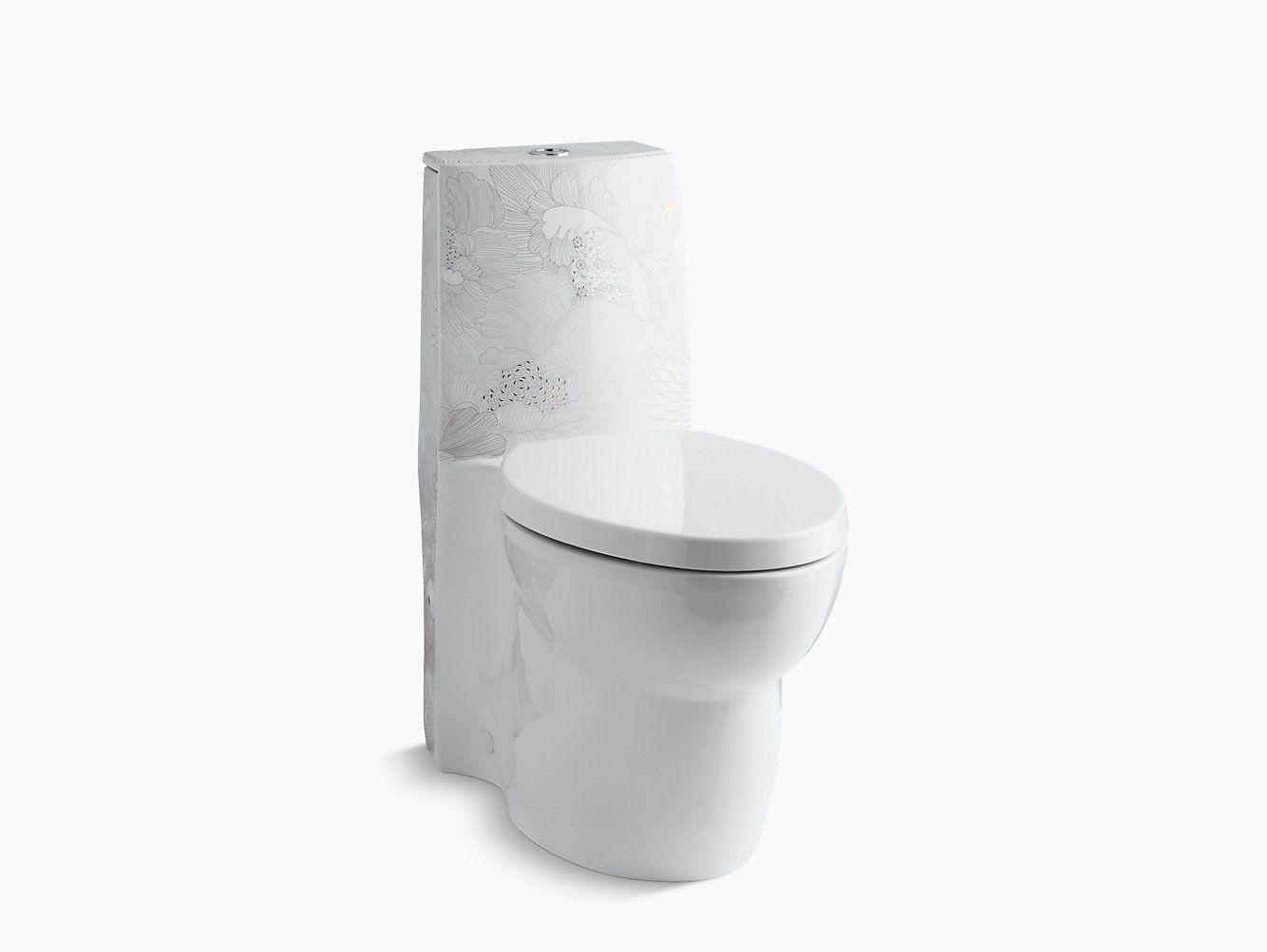 Kohler K 14338 Smc Empress Bouquet Design On Saile Dual Flush Toilet Kohler With Images Dual Flush Toilet Power Room Townhouse Designs