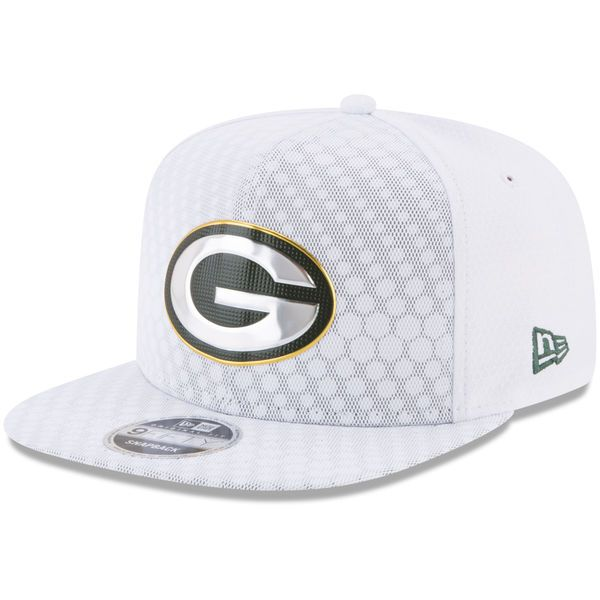 51f5e1151 Men s Green Bay Packers New Era White 2017 Color Rush 9FIFTY Snapback  Adjustable Hat
