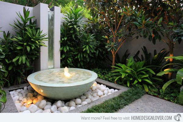 20 Water Feature Designs For Soft Touch In Your Garden Courtyard Gardens Design Water Features In The Garden Garden Features