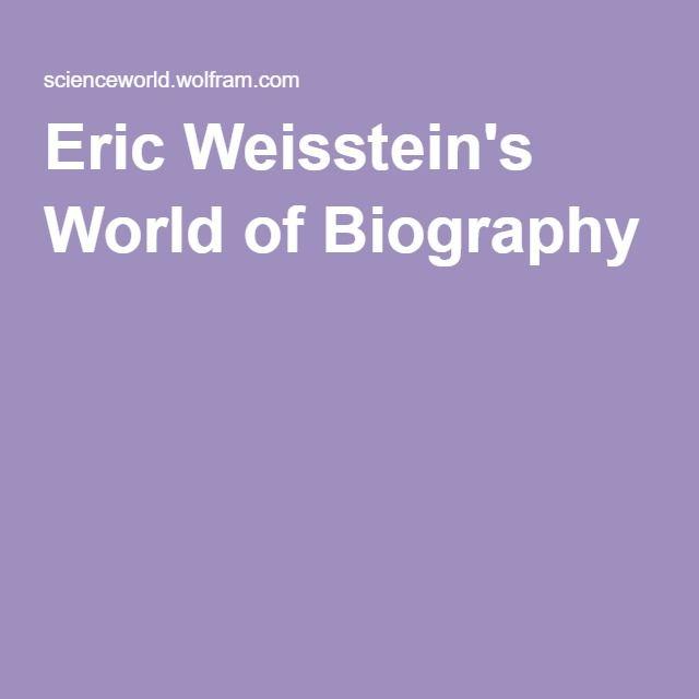 Eric Weisstein's World of Biography