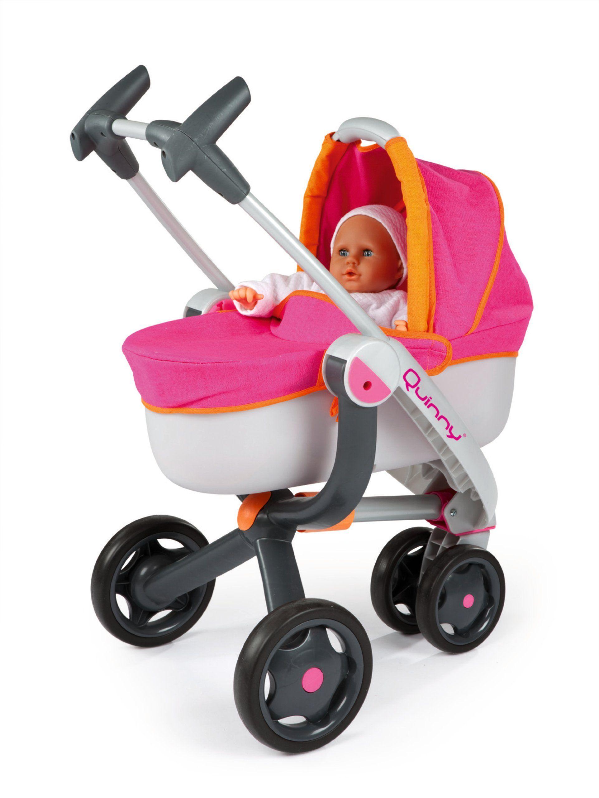 Smoby 550190 quinny cochecito de mu ecas y silla de paseo 2 en 1 3 ruedas jueguetes - Silla de paseo 3 ruedas ...