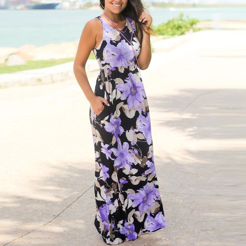 8075e10cec Click to Buy    2017 Boho style long dress women Off shoulder beach ...