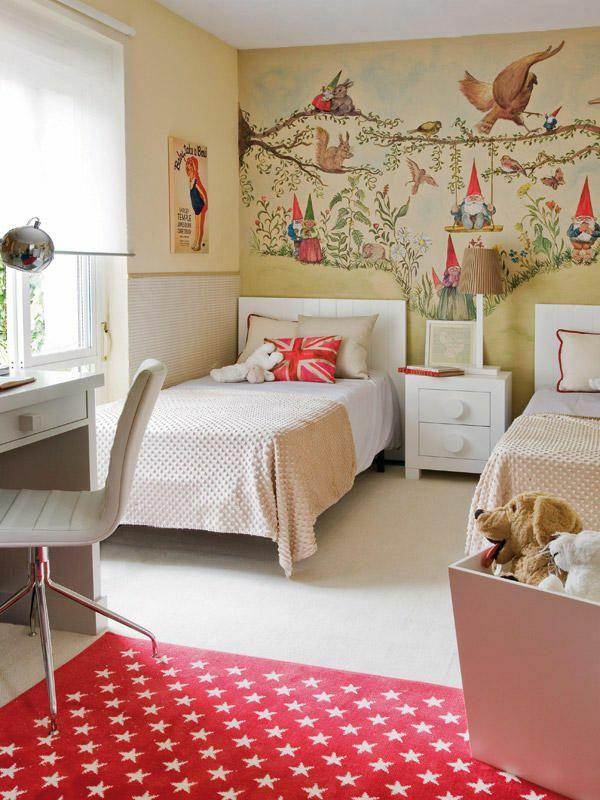 kinderzimmer tapeten farbige ideen f r ihr interieur girls and boys rooms dormitorios. Black Bedroom Furniture Sets. Home Design Ideas