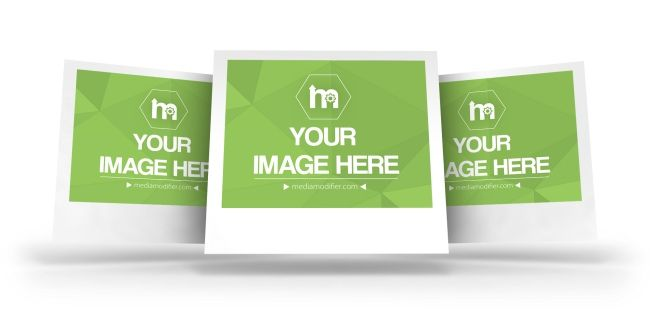 Make yourself a 3D gallery with polaroid images. Online mockup ...