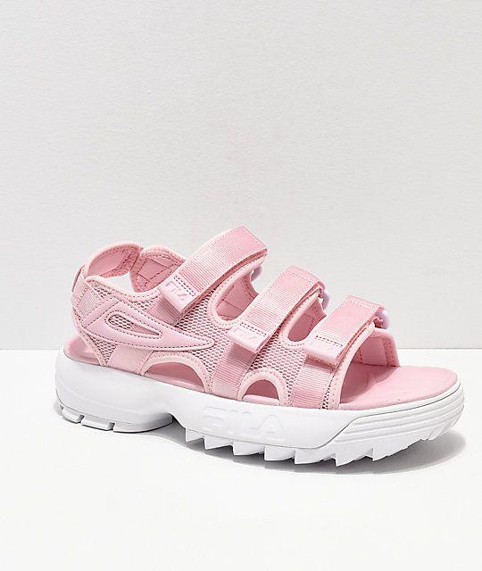 FILA Disruptor Pink & White Sandal | Ayakkabılar, Spor ve Rock