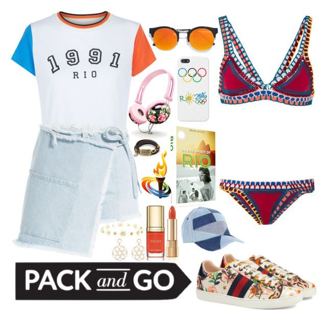 """Beach vibes in Rio☀️"" by karanova ❤ liked on Polyvore featuring New Look, LULUS, Sandy Liang, kiini, Assouline Publishing, Latelita, Dolce&Gabbana, Gucci, Charlotte Russe and Diesel"