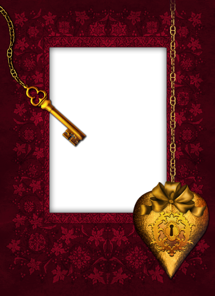 romantic key transparent png photo frame