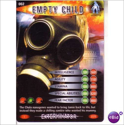 Doctor Who Exterminator Common Trading Cards Pick From List 002 To 039
