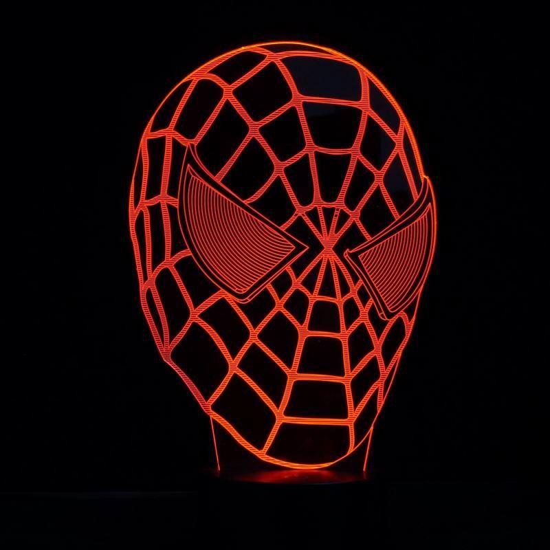 Spiderman Mask 3d Led Lamp 3d Led Lamp Spiderman Lamp