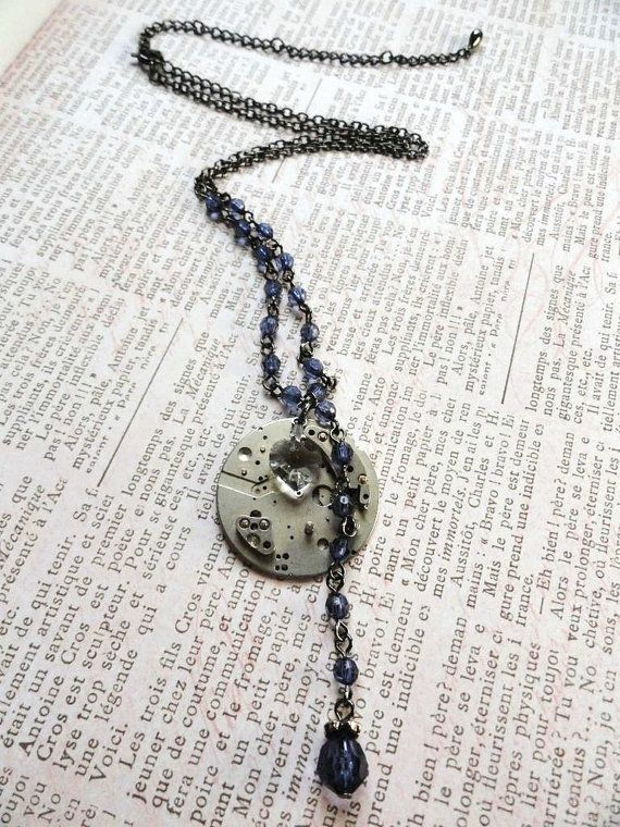 Steampunk Jewelry  Gear Necklace with by AmberIlysSteamcrafts, $30.00