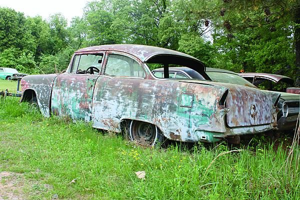 55 Chevy Abandoned Cars Junkyard Cars Automobile