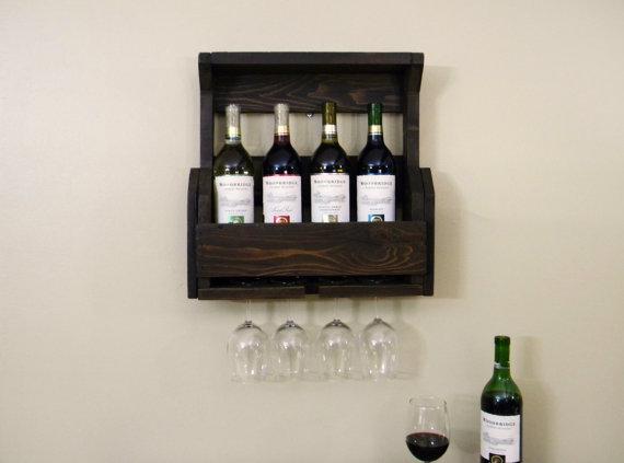 Wine Rack Bar Decor Holder Storage