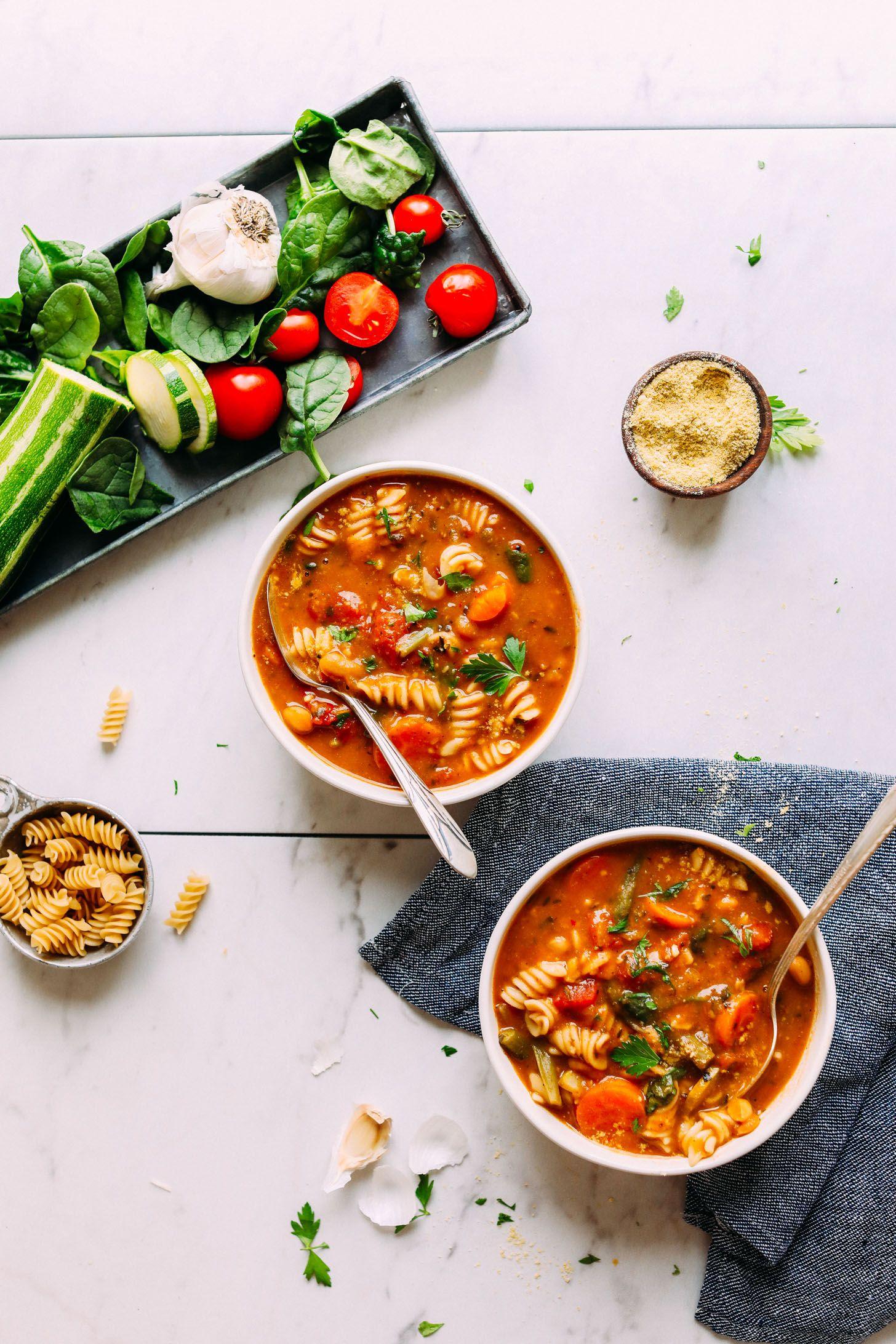 1Pot Vegan Minestrone (GlutenFree) Recipe Food