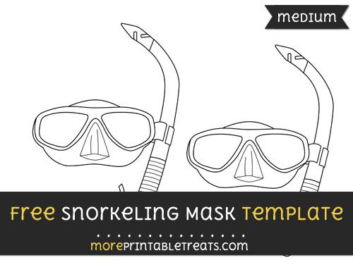 Free Snorkeling Mask Template Medium Mask Template Templates