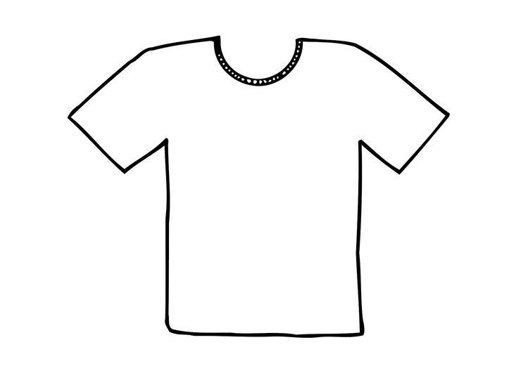 kleurplaat t shirt kleurplaten kleren tekenen