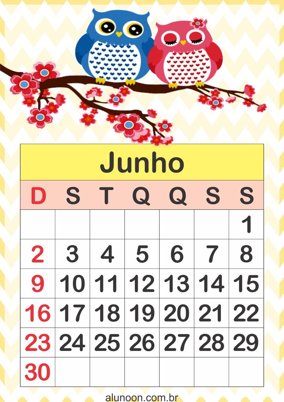 Calendario.Calendario Corujinhas 2019 Para Imprimir Gratuitamente Em Nosso