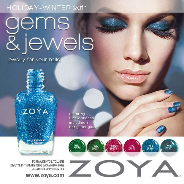 Zoya Nail Polish - Gems & Jewels Holiday - Winter 2011 Collection