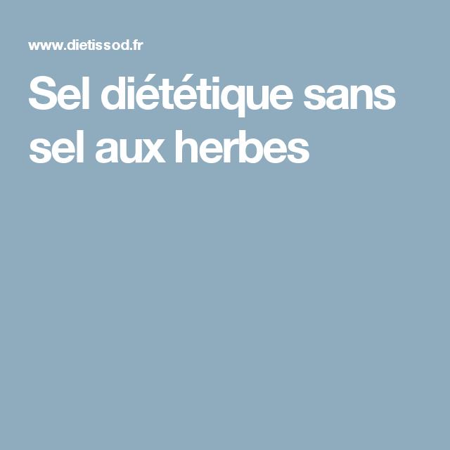 Sel diététique sans sel aux herbes